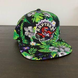 Raptors throwback SnapBack tropical print hat